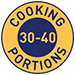 30-40 cooking portions per jar symbol