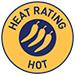 Heat rating - Hot symbol