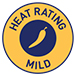 Heat rating - Mild symbol