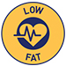 Low fat (less than 3%) symbol