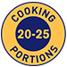20-25 cooking portions per jar symbol