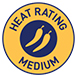 Heat rating - Medium symbol