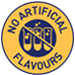 No artificial flavours symbol