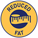 Reduced fat (2.5% less than the   standard) symbol